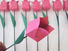 tulipa de origami passo a passo