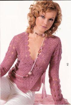 Uncinetto d'oro:  Elegante e bellissima camicia.Schema. <!--more-->...
