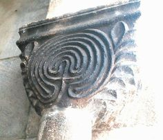This labyrinth is on a capital in a cloister of a church (San Benedetto) in the small town of Conversano, in Puglia, Southern Italy