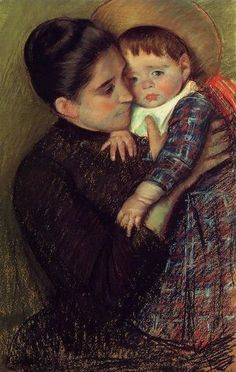 Woman And Her Child by Mary Cassatt.