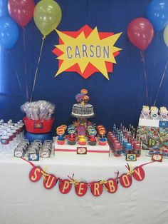 Vintage Marvel Superhero Birthday Party   CatchMyParty.com