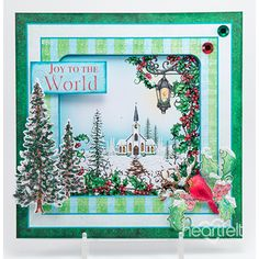 Traditional Christmas made w/ Winters Eve collection from #HeartfeltCreations