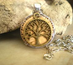 Cork Necklace Wine Cork Jewelry  Upcycled by MaddDoggofTomorrow, $22.00