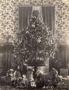President Cleveland was the first to have a tree illuminated by electricity in the White House, during the Gilded Age, c. 1896