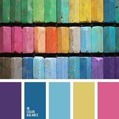 Beautiful pastel color palette