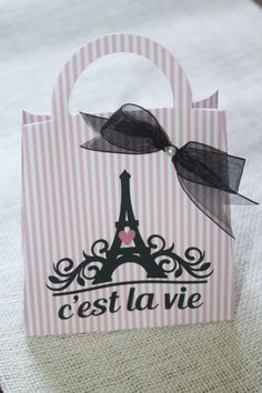 Paris favor bag  Paris party theme favor Set of by JoSeasonsCrafts