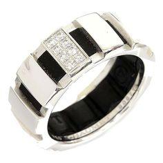 Chaumet 18K white gold diamond ring US SIZE: 4