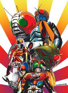 kamen rider full poster by seanlon.deviantart.com on @deviantART