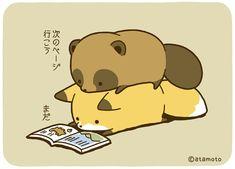 Twitter Cute Kawaii Animals, Kawaii Cute, Cute Images, Cute Pictures, Kawaii Chibi, Japan Design, Anime Animals, Cute Fox, Cute Cartoon Wallpapers