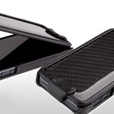 Ion Factory Carbon Shield - Leder Flipper für iPhone 5 bei www.StyleMyPhone.de
