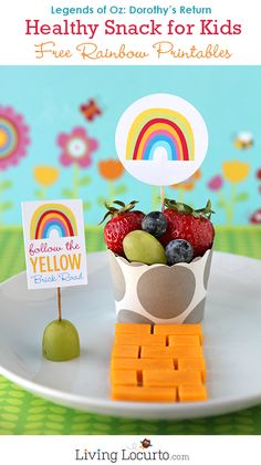 Free Rainbow Party Printables & Healthy Snack - Legends of Oz: Dorothy's Return LivingLocurto.com