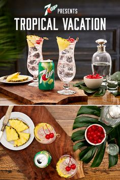Tropical Vacation from 7UP: The taste of the tropics without the travel. The flavors of pineapple, rum and 7UP will whisk you away to somewhere warm. Must be 21+ Please drink responsibly. Age Verification Required.