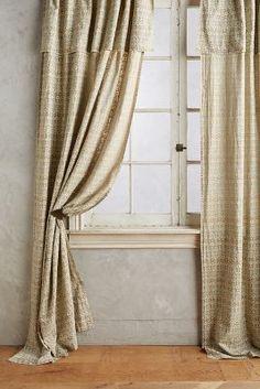 ikat blossom curtain
