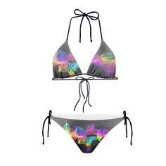 Ladies Womans Electronic Design Bikinis
