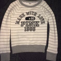 Pink sweater crew  In PERFECT condition size XS this is true to size !! PINK Victoria's Secret Sweaters