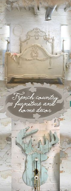 Beautiful hand painted shabby chic, French country furniture and home decor. #furniture #frenchcountry #cottage #homedecor #shabbychic #ad #shabbychicdecorfrench