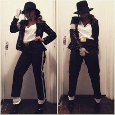 Anitta se fantasia de Michael Jackson para baile pré-carnaval