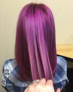 Magenta Lanza vibes pink hair purple fashion color dimension