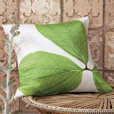 CLINTON FRIEDMAN LEAF STUDY PILLOW COVER  $44.00 SALE $24.99