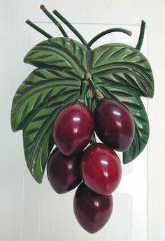 Bakelite Grape or Berry pin