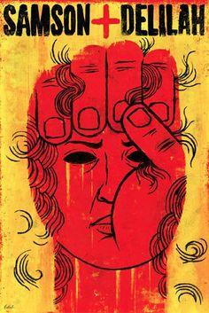 Edel Rodriguez (b. 1971), 2013, Samson+ Delilah, Grand Rapids Opera, Michigan.