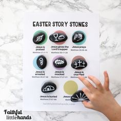 Easter Story Stones Activity