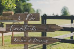 Farm wedding, painted signs by Spread Love Events