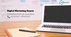 Digital Marketing Course 15 Modules,100% job Assistance http://www.digigyan.in/digital-marketing-certificate/course.html