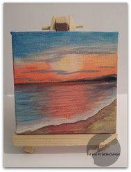 strand und meer acrylbild auf leinwand von