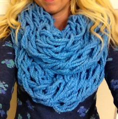 Chunky arm knit infinity scarf on Etsy, $35.00