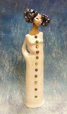 http://www.facebook.com/pages/KB-Galerie/561079683915422 Kateřina Baranowska: Colombína - kráska v bílé masce - rezervováno