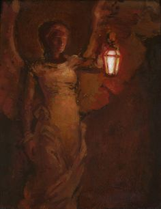 Angel with Lamp j kirk richards