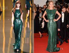 lovely.  Doutzen Kroes In Elie Saab - 'Cosmopolis' Cannes Film Festival Premiere