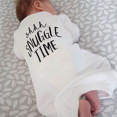 Nighttime snuggles  || shown: snuggle bug sleeper gown // : @helloaandj Baby newborn gown, newborn gifts, snuggle time pajamas.