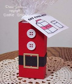 artesanato de natal com caixa de leite - lembrancinha reciclada