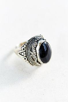Black Onyx Stone Ring