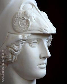 Diosa Atenea. Figura de Escayola. 53x18x33cm - Reproduccion neoclasica. www.decorarconarte.com