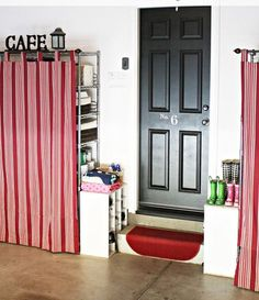 Tab curtains can be used to hide those other stored items you don't have closet space for.