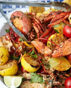 Grilled Lobster with Sun-Dried Chile Butter and Corn on the Cob Recipe Shellfish Recipes, Seafood Recipes, Corn Recipes, Lobster Recipes, Seafood Dishes, Lobster Dishes, Lobster Trap, Lobster Party, Seafood Party