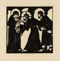 Eric Gill, 'Jesus Meets Veronica' 1917