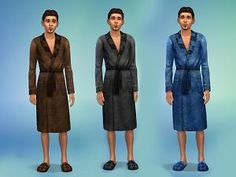 Mod The Sims - Bathrobes and slippers for male