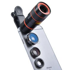 Apexel 4 in 1 Camera Lens 8x Telephoto Lens+Fisheye+Wide Angle + Macro Lens for iPhone 7 6/6s plus SE Samsung Galaxy S7/S7 Edge S6/S6 Edge and most Android smartphone