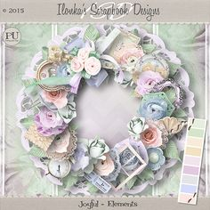 """""""Joyful"""" Kit and Collection by Ilonka's Scrapbook Designs is available at:  Here is a wonderful new kit and collection in soft pastel colors. It's called """"Joyful"""".  http://www.digiscrapbooking.ch/shop/index.php?main_page=index&manufacturers_id=131&zenid=505e549644797992fb6f20f38872706b  http://digital-crea.fr/shop/?main_page=index&manufacturers_id=177  http://www.godigitalscrapbooking.com/shop/index.php?main_page=index&manufacturers_id=123"""