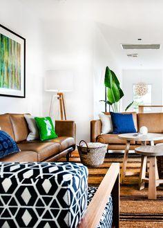Natural textures and Indigo blue in Cottlesloe | Designhunter - architecture & design blog
