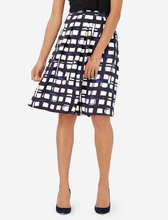 High Waist Printed Midi Skirt from THELIMITED.com