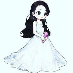 Anime Chibi, Anime Art, Kpop Drawings, Iu Fashion, Doodle Art, Korean Actors, Actors & Actresses, Cute Babies, Queens