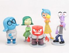 Inside Out, plastic figurine set. perfect to use as cake toppers, NB without packaging