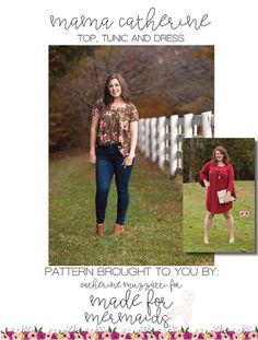 Mama Catherine Top, Tunic & Dress PDF Sewing Pattern by madeformermaids on Etsy https://www.etsy.com/au/listing/559333998/mama-catherine-top-tunic-dress-pdf