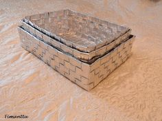 Recycling, Decorative Boxes, Interior Decorating, Weaving, Fun, Home Decor, Upcycling, Interior Styling, Fin Fun