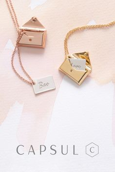 Create custom jewelry that tells your story. Engrave a special word name or date on the custom envelope locket necklace. Create custom jewelry that tells your story. Engrave a special word name or date on the custom envelope locket necklace. Cute Jewelry, Jewelry Box, Jewelry Accessories, Jewelry Necklaces, Jewelry Making, Pandora Jewelry, Jewelry Ideas, Jewellery Earrings, Pandora Rings